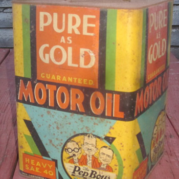 Pep Boys oil Can 1933 - Petroliana