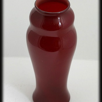 L.C. TIFFANY RED VASE