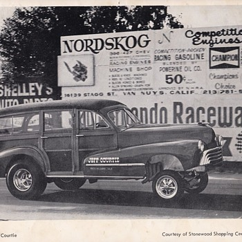 Jeff Courtie 1948 Olds Woodie Dragster - Photographs