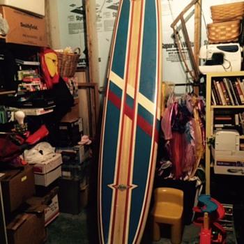 Vintage Hobie Surfboard - Sporting Goods