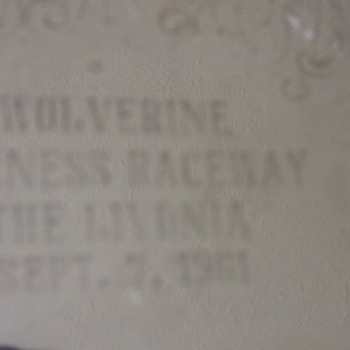 Silver plate harness race award 1961