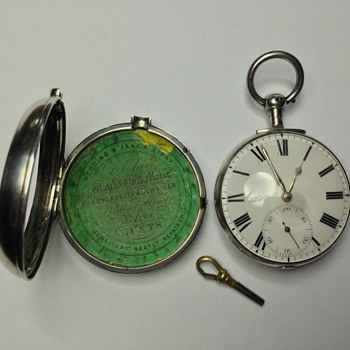 "English ""Lever"" Fusee Pocket Watch Made 1824 - Pocket Watches"
