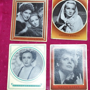 1930's Collector Cards:  Shirley Temple, Marlene Dietrich... - Cards