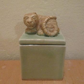 Asian Miniature Pottery Box - Asian