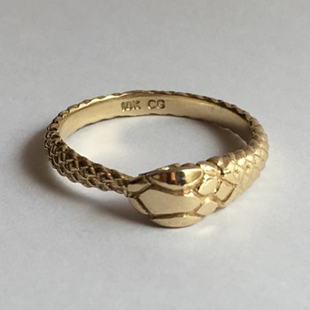 Victorian 10k ouroboros snake ring - Fine Jewelry