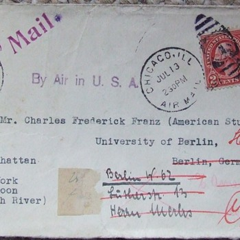 Old Envelope That Has Been Around  - Stamps