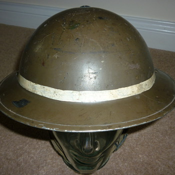 WW11 Mines Rescue/Security helmet - Military and Wartime