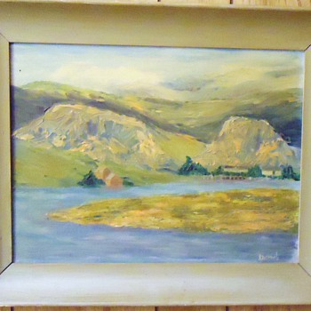 Oil painting of Russian River by my house!  1950's or 60's from thrift store $4.50
