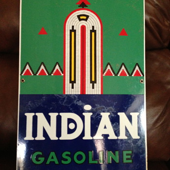 Indian Gasoline Pump Sign