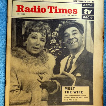 1966-bbc radio times magazine-radio and TV programmes. - Paper
