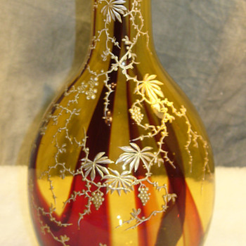 Victorian pierced bottle form... - Art Glass