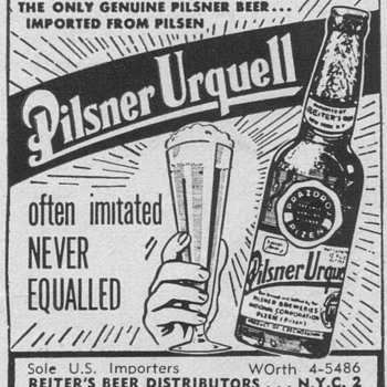 1955 Pilsner Urquell Advertisement