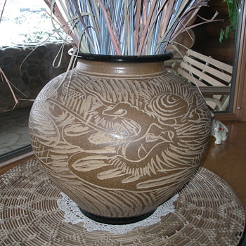 Vase from Seto, Japan approx 35 years ago
