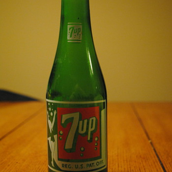 1930&#039;s/40&#039;s 7Up Bottle-Detroit, MI