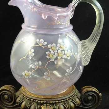 Victorian Loetz DEK III/115 Art Glass Pitcher - Art Glass