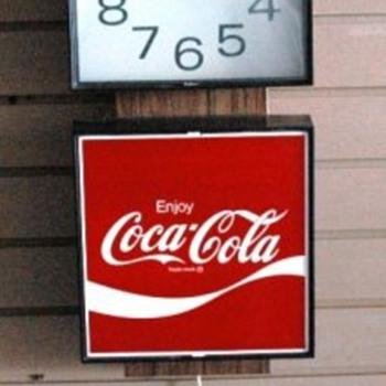 1975 Coca Cola Clock