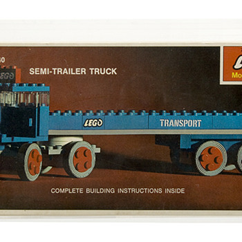 1968 LEGO Model Maker Building Toy 334 SEMI-TRAILER TRUCK AFA 80 Near Mint! - Model Cars