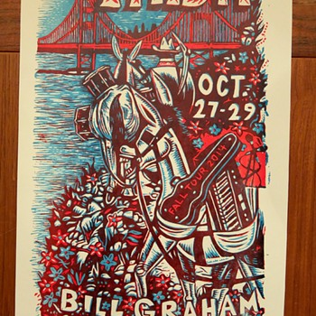 Phish, San Francisco, by Jim Pollock - Posters and Prints