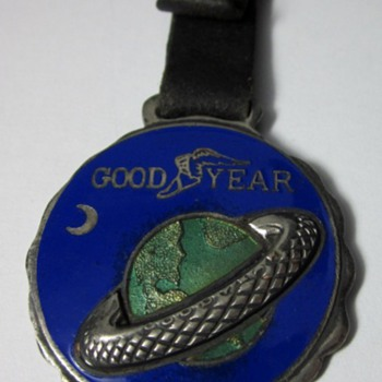 Early Goodyear tires Enamel Watch Fob