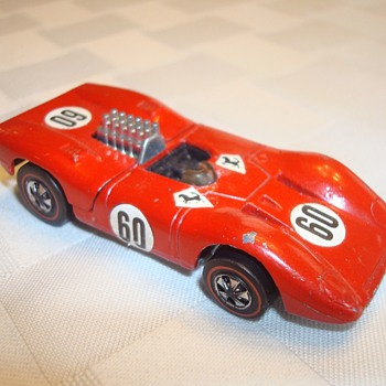 Redline Hot Wheels Ferrari with Magazine Ad - Model Cars