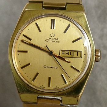 1973- omega 'geneve' men's gold plated watch-auto wind-no battery. - Wristwatches