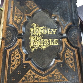 Antique Bible Cira 1882??