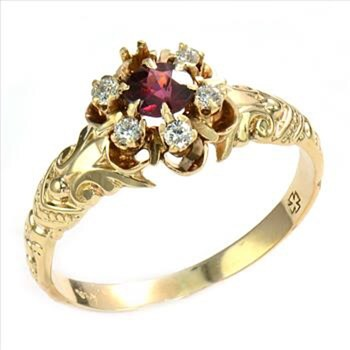 Lovely 14k Gold and ruby ring - Fine Jewelry