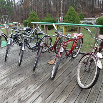 my vintage bike collection is growing LOL