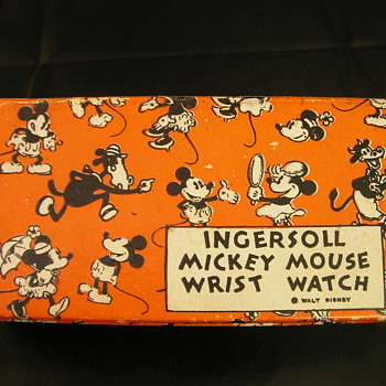 33' Fall - 35' Summer 'US' Mickey Mouse Wristwatch Box - Wristwatches