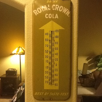 Royal Crown Cola 1953 Thermometer - Advertising