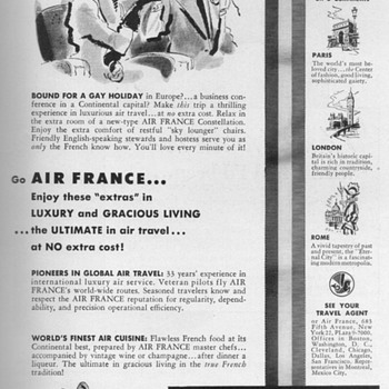 1952 - Air France Advertisement - Advertising