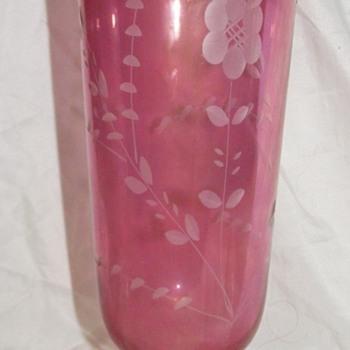 Grandma's Cranberry Vase