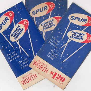Vintage Spur Gasoline Value Stamp Books  - Paper