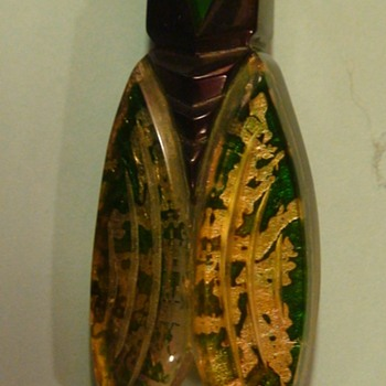 Cicada France New Old Stock (?) With New Pin Added - Art Deco