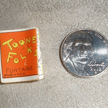 RARE! Toonerville Folks Fontaine Fox MINIATURE Comic Strip &quot;Little Brother&quot; Bell Newspaper Syndicate