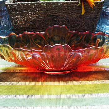 Amberina Console - Glassware