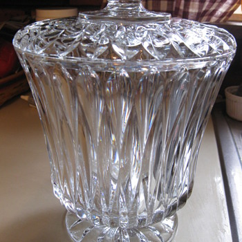 Vintage Glass bowl with Lid - Glassware