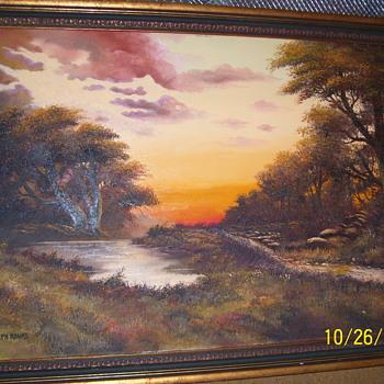 Joseph Adams Oil on Canvas - Visual Art