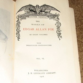 Edgar Allen Poe Complete Works in 8 Volumes - Signed by Charles B Gatewood