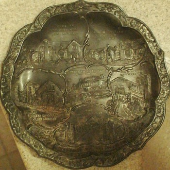 Homes Of Movie Stars Metal Souvenir Tray 1920s - Advertising