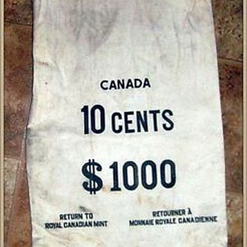 Canadian Money Bag -- Dimes ( for Walksoftly )