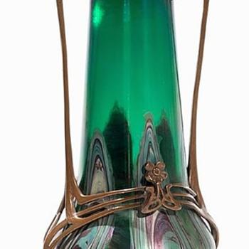 Art Nouveau Vase, Bohemian?? - Art Glass