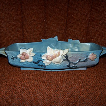 ROSEVILLE 451-12 MAGNOLIA CONSOLE BOWL ADDITIONAL MARKS?? - Art Pottery