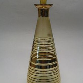 BORSKE SKLO Glass Decanter -- 1950's/1960's era