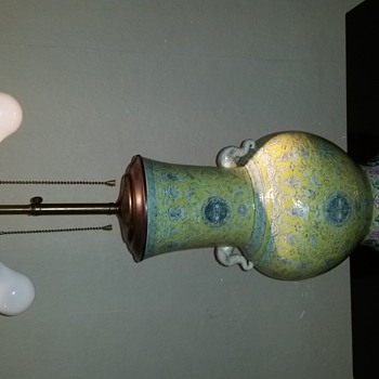 Famille Jaune Baluster Table Lamp