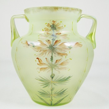 Beautifully decorated Loetz Arcadia PN# II-279 ca. 1900 - Art Glass
