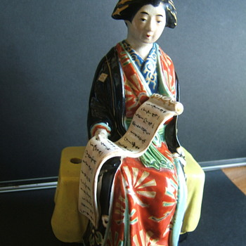 porcelain japanese geisha figure - Asian