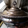 columbian quadruple silver serving dish
