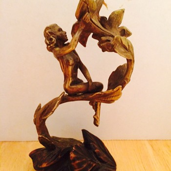 Small Bronze Lady Figurine - Figurines