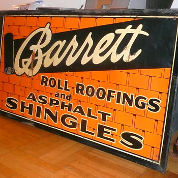 Barrett Roll Roofings ans Asphalt Shingles Sign